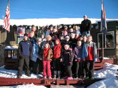 group staying at leadville hostel 768x576